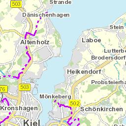 Kieler Bucht Karte.Stadtplan Der Landeshauptstadt Kiel